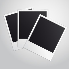 Polaroid Frames Isolated. Vector illustration