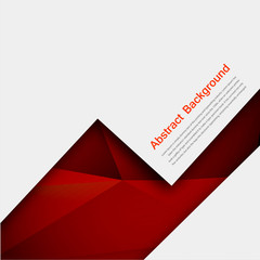 Vector abstract background. Polygon red and black