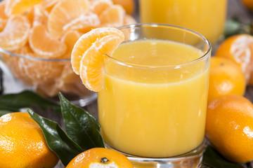 Glass with Tangerine Juice