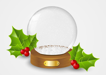 Christmas glass ball with snow