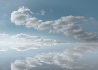 Peaceful water and sky