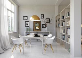 Esszimmer in Altbau - dining room in Loft apartment