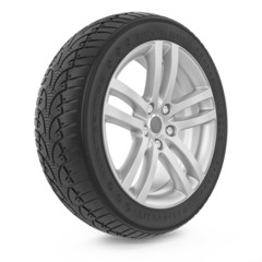 Car wheel. Winter tire.