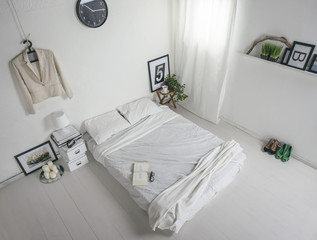 The white bedroom. Aerial view.