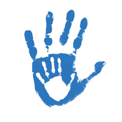 Father and son handprints
