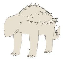 cartoon image of panoplosaurus dino