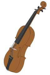 cartoon image of violin instrument
