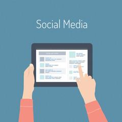 Social media flat illustration concept