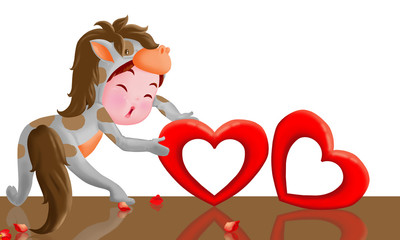 Horse and Valentine.