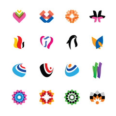 abstract, colorful icons