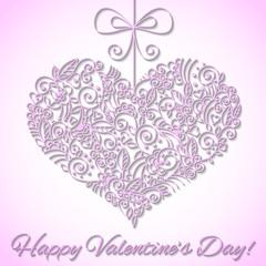 Valentine's card with elegant heart