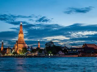 Thai temple twilight