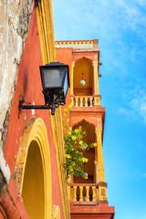 Fotomurales - Orange and Yellow Balcony