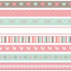 set of seamless ribbons