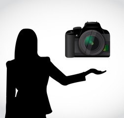 camera presentation illustration design