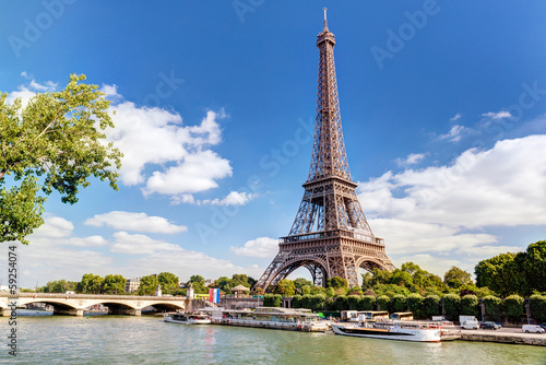 Wall mural The Eiffel tower