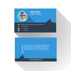 Simple Modern Light Business Card Template - Flat Design
