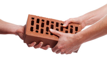 Giving a brick