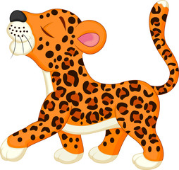 Baby leopard cartoon