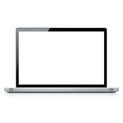 Modern responsive laptop computer vector - isolated on white