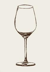 Glas Weinglas leer Zeichnung Grafik Illustration