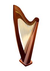 Harp on white
