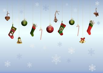 Bunte Weihnachtsdekoration
