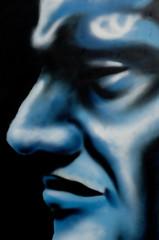 Graffiti - Profil d'un homme