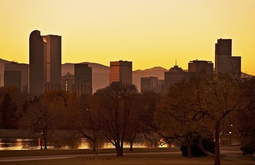 Wall Mural - Fall Denver Sunset