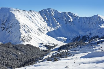 Wall Mural - Snow Mountain Peaks