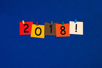 2018 - sign for the new year