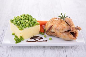 baked quail