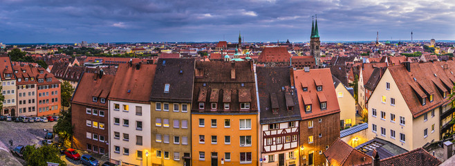 Nuremberg, Germany Old City Panorama Wall mural
