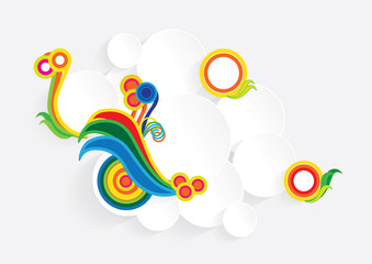 ornamental circles of paper