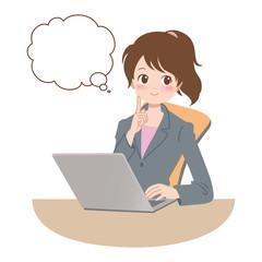 女性/パソコン