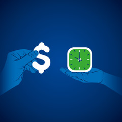 exchange time with money vector
