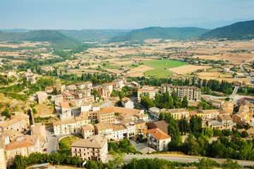 view of Cardona in summer day