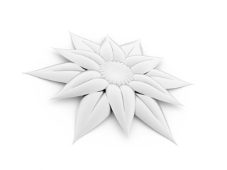 3D abstract flower rose isolated