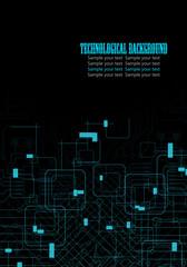 Black technological design background
