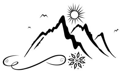 Der Berg ruft! Wandern, Berg, Bergsteigen, Klettern.