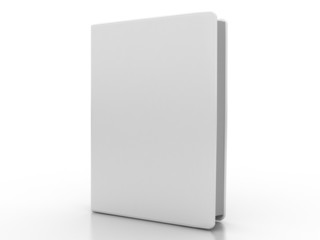 Book template on a white background
