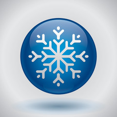 Snowflake, vector design element, new yer