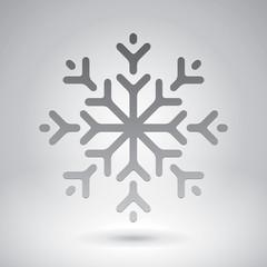 Snowflake, vector design element, new yer