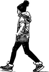 striding child