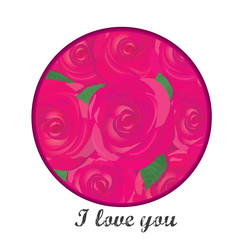 vector valentine day flower greeting card with red rose