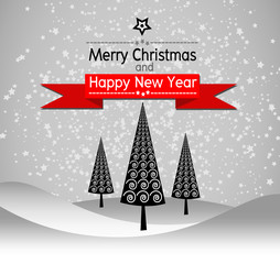 Merry Christmas And Happy New Year Landscape