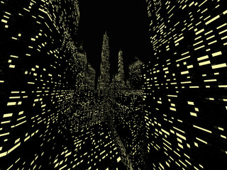 Night city space