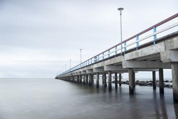 Sea, pier and rocks