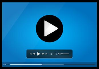Video player for web, minimalistic design