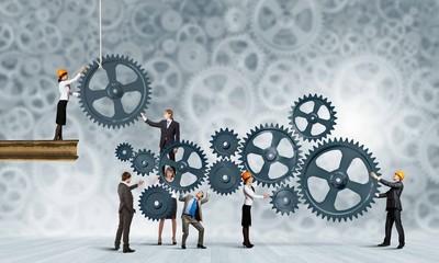 Wall Mural - Teamwork concept
